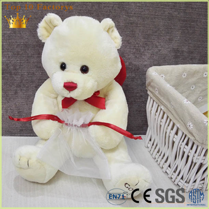 Valentine wedding 12 inch jointed soft toys plush teddy bear factory