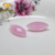 Wholesale beautiful faceted cut marquise pink glass gemstone bead price