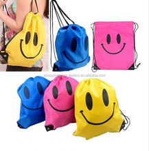 Colourful small nylon drawstring bag