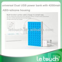 Dual USB universal portable charger aluminium case power bank for iPhone/iPod/iPad/samsung,GPS