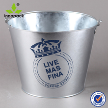 Hot sales metal ice bucket for beer with handle