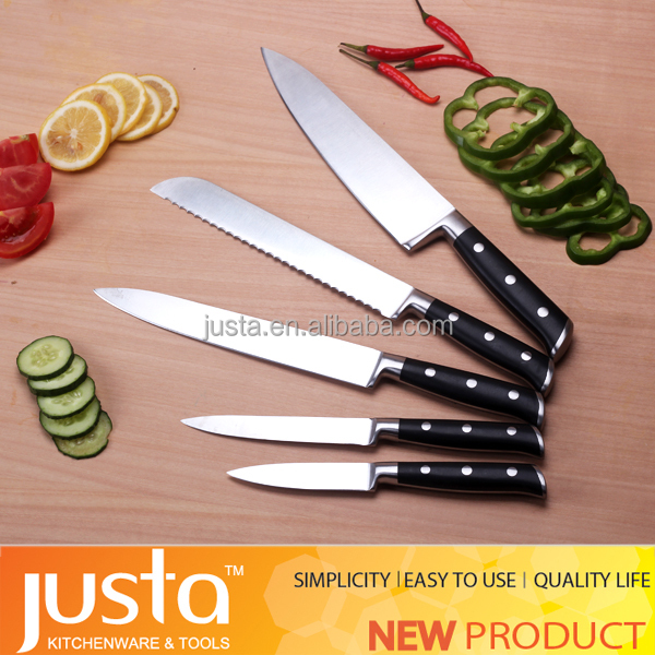 new kitchen product seen on tv 5 piece stainless steel knife set