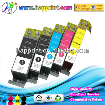 Printer compatible ink cartridge, wholesale compatible ink cartridge canon pgi-520 cli-521