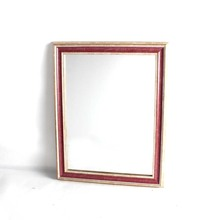 discount simple design red wall mirror decorative