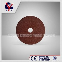 125mm fiber disc yongkang aluminium or silicon carbide cloth fiber disc