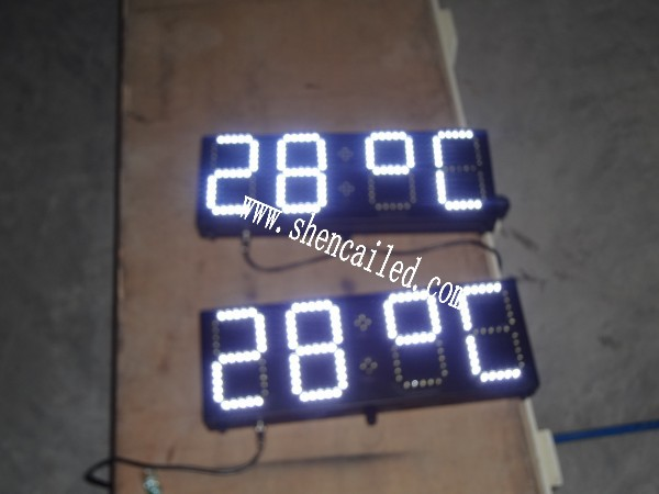 guangzhou 6 inch 7 segment digital led white display