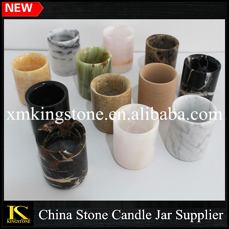 Natural marble candle vessel/christmas ornaments/party decorations