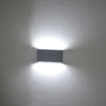 170mm*30mm*90mm 12W Aluminium indoor modern led wall light