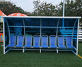 Outdoor Stadium Soccer Mobile Vip Seats Substitute Bench Team Shelter With PC Solar Panel