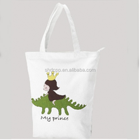 Fancy eco-friendly white blank canvas tote bag wholesale
