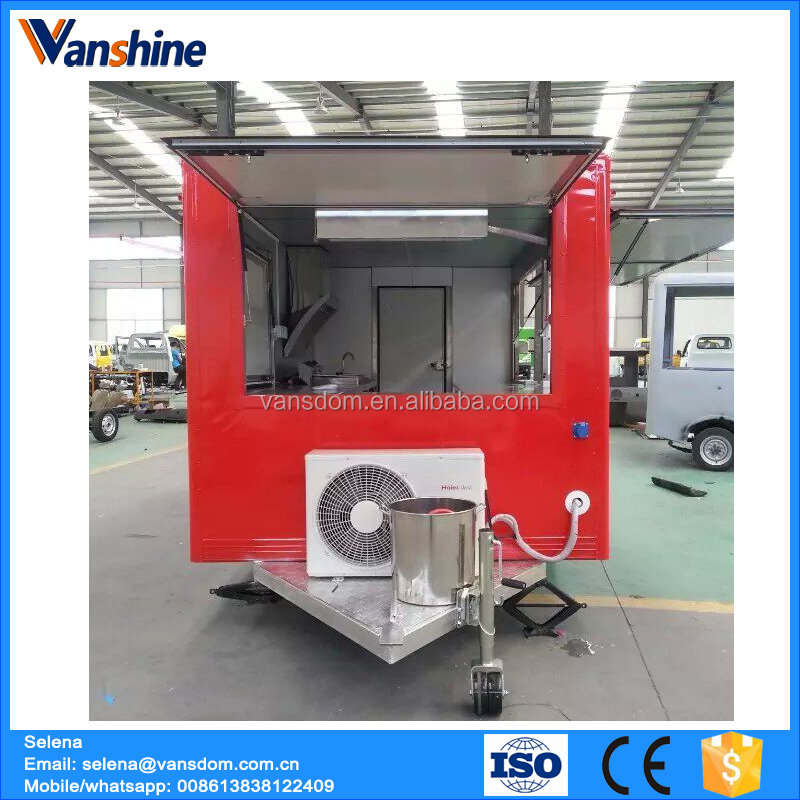 Mobile food vehicle with cook machines fast food vehicle price