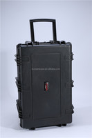 Popular waterproof dustproof large hard plastic equipment case with wheels and handle