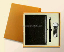 promotional notebook with pen and key chain