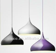 hot sell popular cheap price metal shade colorful painting pendant