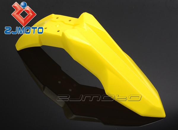 ZJMOTO Bright Color Yellow Motorcycle Front Fender Plastic Plate Shrouds MX Enduro 250cc Cross