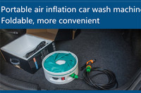 high quality best selling personal service Portable Car Washer 12v foldable car washer