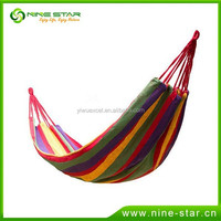 Wholesale Best selling Popular OEM Custom Personalized Cotton Canvas Suspended Hanging Camping Hammock Direct Factory For Sale
