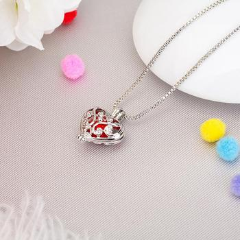 542467 for women Perfume Locket Necklace Brass Plush Heart hollow design