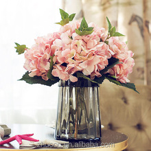 Silk Flowers Artificial Hydrangea Artificial Flower Flowers Artificial party Wedding DIY Craft fake flores marriage decoration