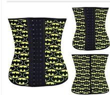 Colorful patterns waist trainer, cheap price waist training corset latex, waist training corset