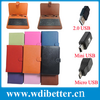 Universal PU Leather Flip Stand Case Cover w/ USB Keyboard for 7 Inch Tablets