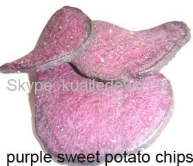 vacuum fried purple potato chips