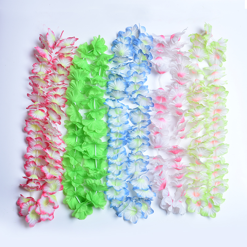 Cheap Silk Flower Garland for Decoration in Hawaii Party