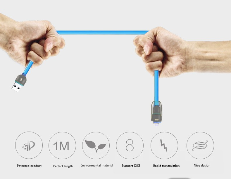 1M Retractable 2 in 1 Micro USB Data Sync Charging Charger Cable Combo