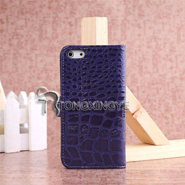 Alligator pattern,new style colorful leather skin case for iphone5