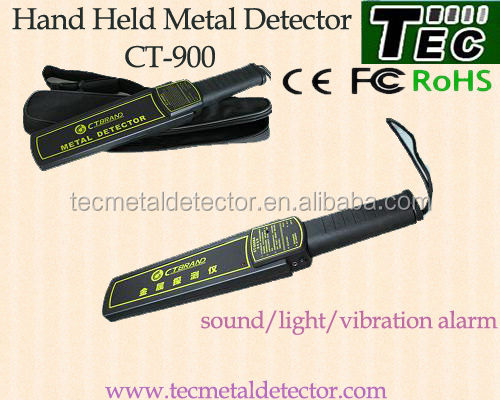 Hand held metal detector CT-900 with sensitive change button and black bag