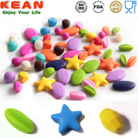 Full stylish collection silicone baby teething round hexagon star loose beads for sale