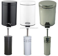 Stainless Steel Pedal Waste Bin & Toilet Brush Holder
