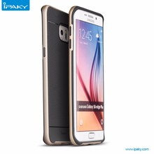 Wholesale New Product original iPAKY Brand Hybrid Armor TPU+PC Frame phone case For S6 edge plus Mobile phone cover
