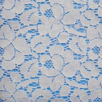 nylon&cotton material white lace fabric for curtain