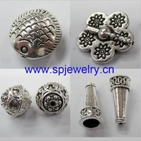 flat round zinc alloy metal beads, wholesale jewelry finding