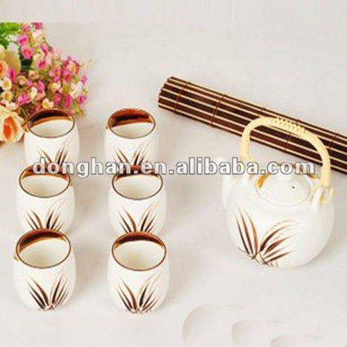 good quality 6pcs ceramic japanese style tea set