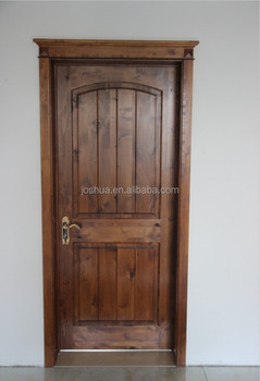 Single Entry Door 36u0026quot; X 96u0026quot;Solid Knotty Alder 2 Panel Arch