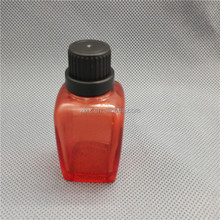 RED Glass Bottle Jar RED 8 oz French Square bottle With Screw Top,french bottle with dropper for juice