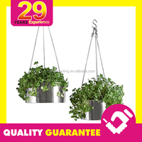 Custom Metal Rectangular Hanging Planter For