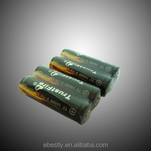 phone battery 900mah 14500 rechargeable lithium ion battery 3.7v ICR aa size battery from original manufactures
