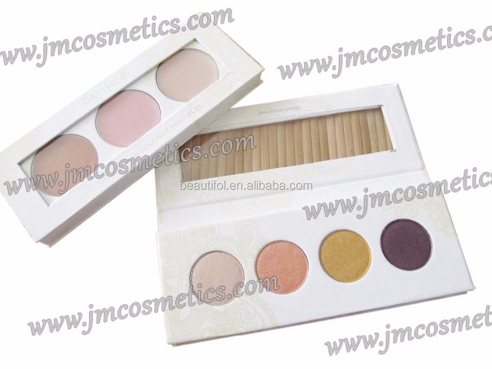 Maquillaje wholesale cosmetics dry eyeshadow palette base color organic