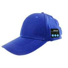 wholesale sports wireless music baseball hat headphone sport blue custom baseball cap