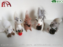new 100% pure wool felt home desk decor animal for Christmas