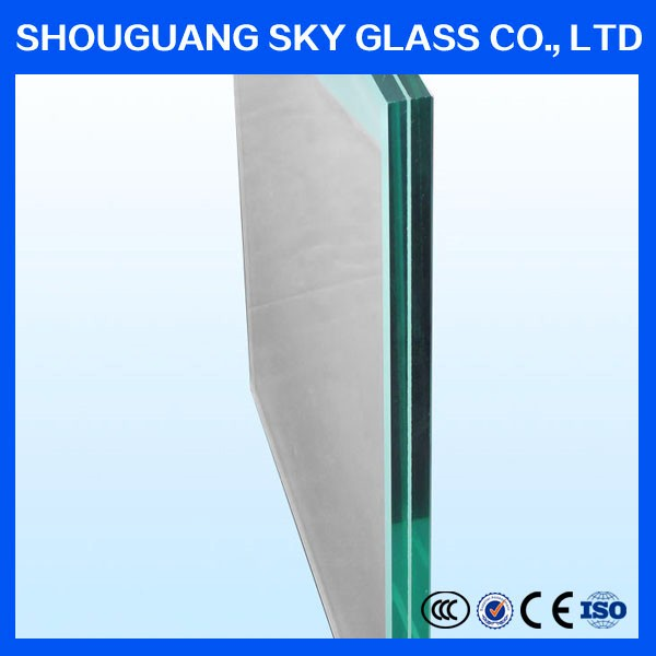 6.38mm-30mm elevation safety door laminated wired window building glass price