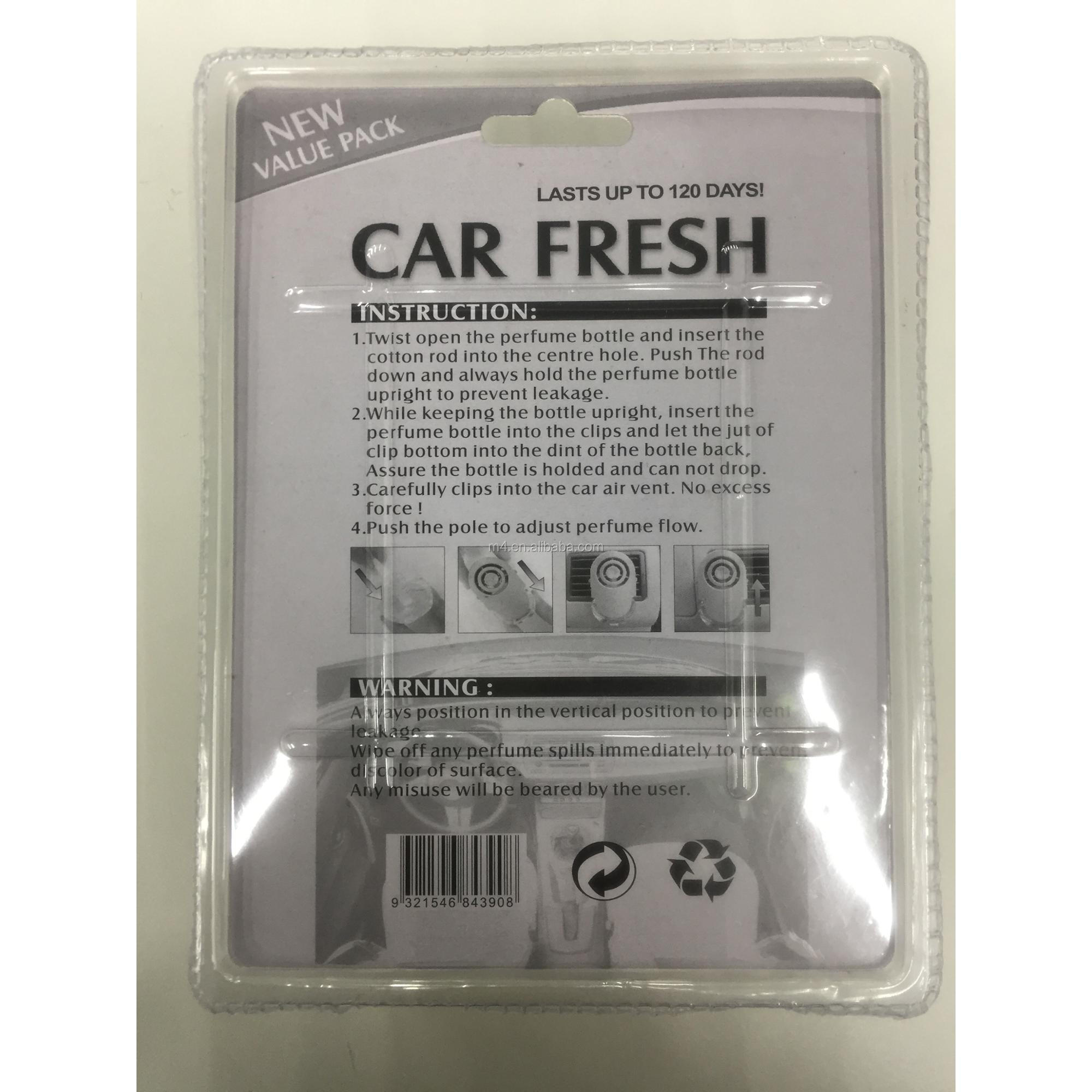 Vent car air freshener with substitute