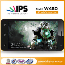 OMES W450 MTK6582 Quad Core gravity sensor mobile phone