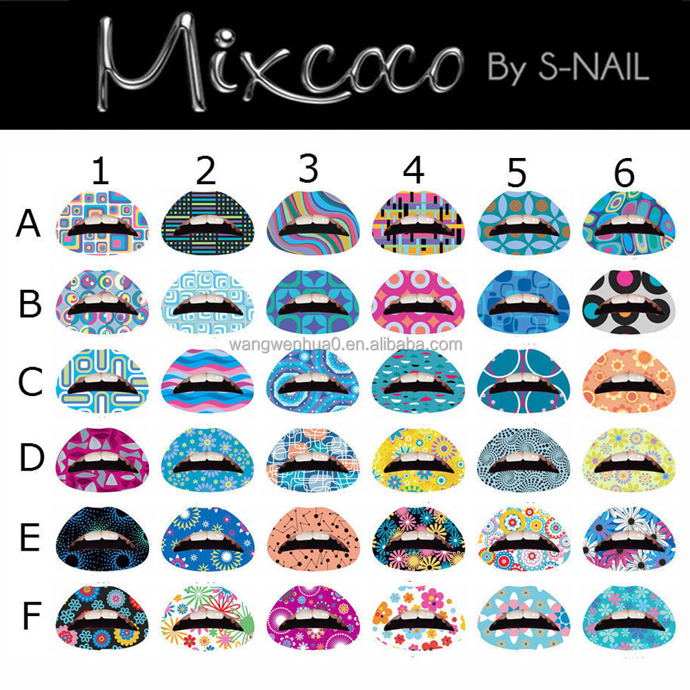 China sticker printing tatoo lip print tattoo sticker/eco-friendly hig quality lips sticker temporary tattoo