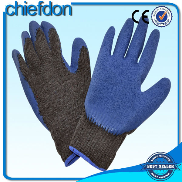 China OEM reinforced palm black cow leather gloves