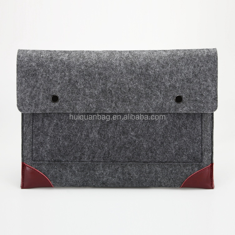15.6 ECO Friendly Felt Leather Notebook Sleeve Laptop Bags Case