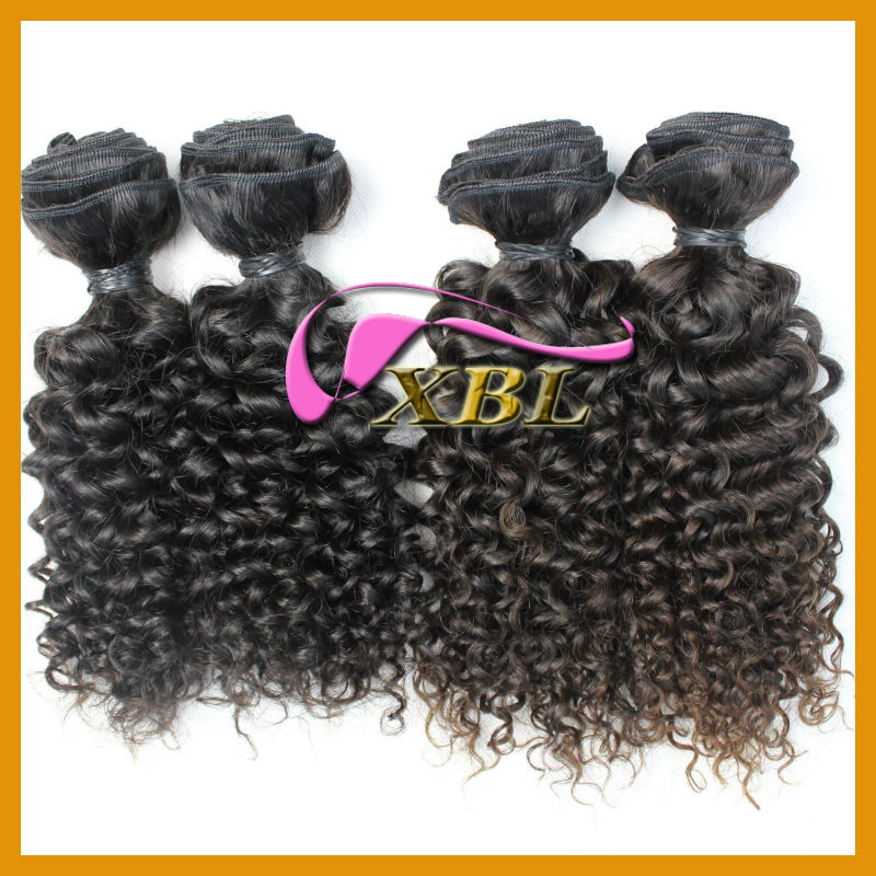 natural color and #2 virgin peruvian hair curly 100% virgin remy peruvian human hair supplier in China